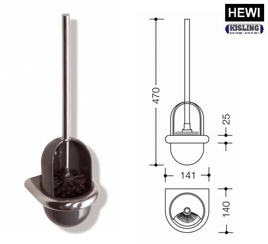 Unterschiedlich HEWI WC Bürste Bürstengarnitur 805.20.100 Edelst-Polyamid Farbe 99  AJ62