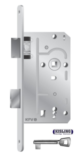 Room Door Key BB WC Door Lock Mortise Stulp 18 20 24 Round käntig